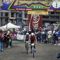 The inaugural UCI Mountain Bike World Championships in 1990 in Durango, Colo.