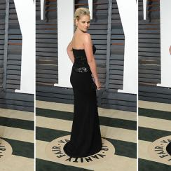 Genevieve Morton attends the 2015 Vanity Fair Oscar Party