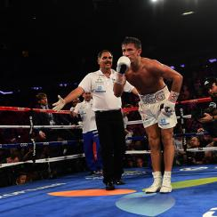 Abel Sanchez with his champion Gennady Golovkin