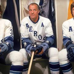 Mr. Hockey with sons Marty (left) and Mark in 1974.