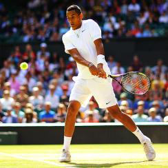 19-year-old Nick Kyrgios won the first set against world No. 1 Rafael Nadal in their fourth-round match at Wimbledon.