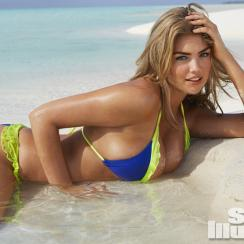Kate Upton in Cook Islands, New Zealand.