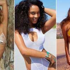 Kate Bock, Ariel Meredith and Nina Agdal, SI Swimsuit 2015