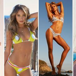 Anastasia Ashley, Hannah Davis, Kelly Rohrbach and Genevieve Morton for SI Swimsuit