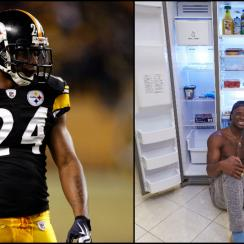 Ike Taylor's fridge may be somewhat bare, but the Pittsburgh Steelers corner knows how to keep his body in tip-top shape.