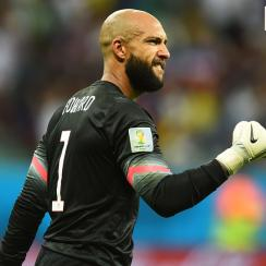 Howard made a record 15 saves during the U.S.'s 2014 World Cup match against Belgium.