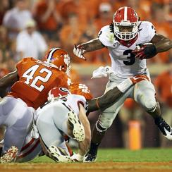After losing to Clemson last year, Todd Gurley (3) and Georgia will seek payback in their season opener.