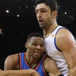 Russell Westbrook vows revenge against Zaza Pachulia for hard foul