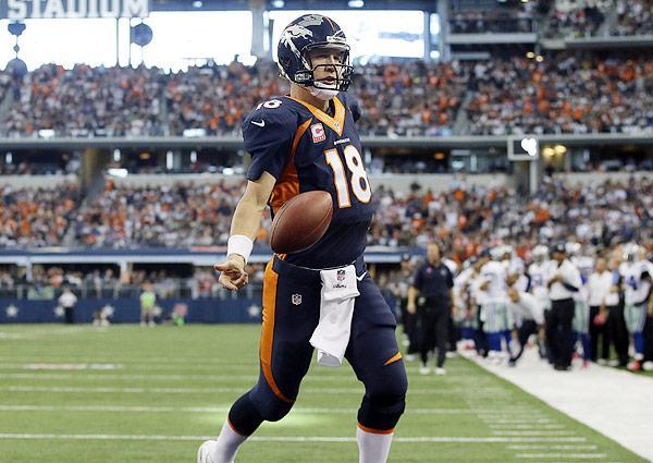 peyton manning scores first rushing touchdown since 2008
