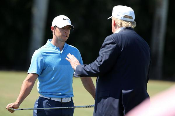 Rory McIlroy and Donald Trump play golf together at Trump International
