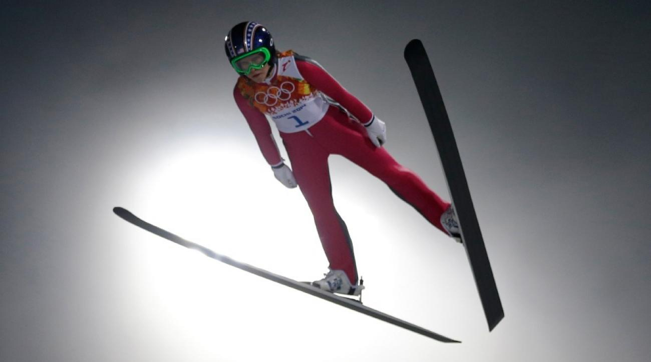Sarah Hendrickson finished 21st in the first-ever Olympic women's ski jump.