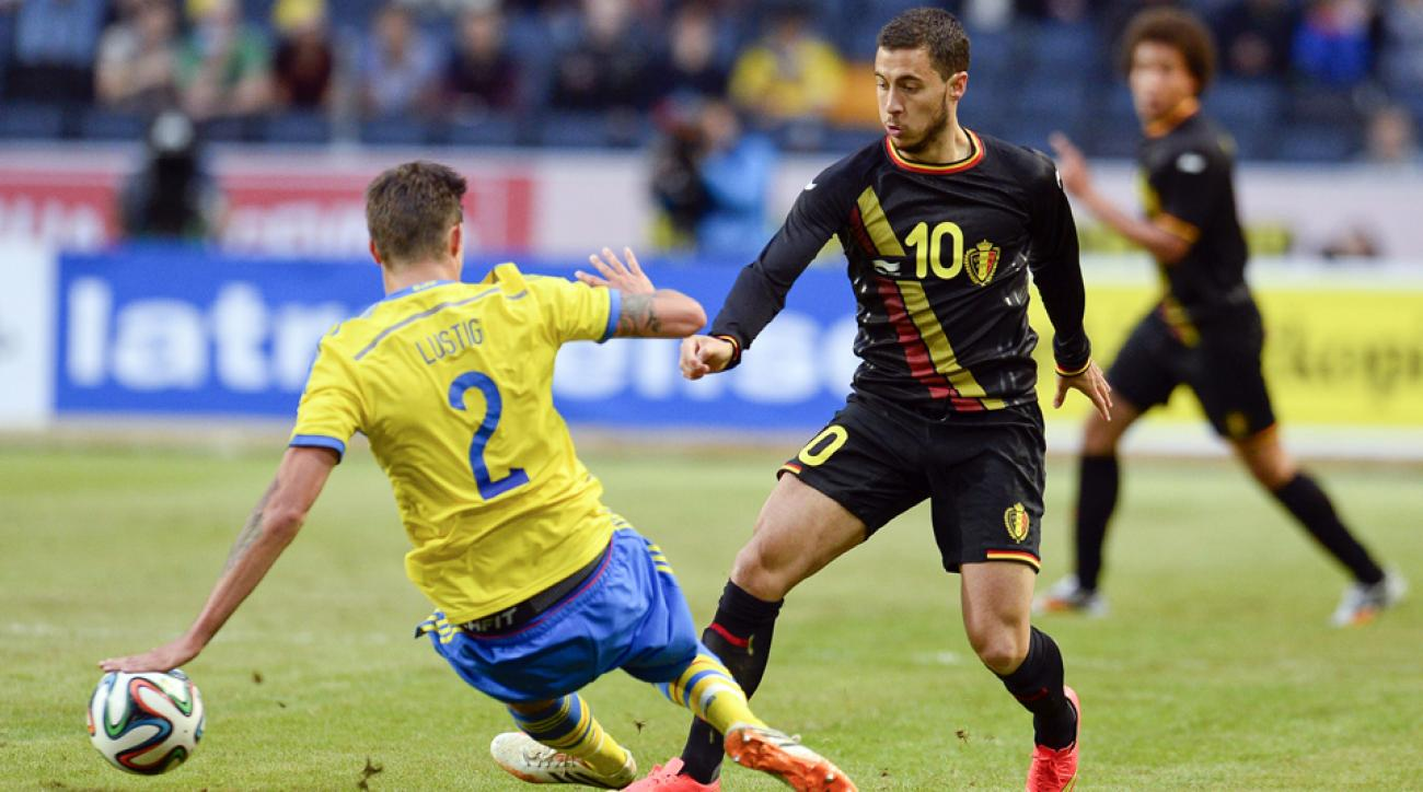 Belgium star Eden Hazard (10) leads the favored Red Devils in a manageable Group H.