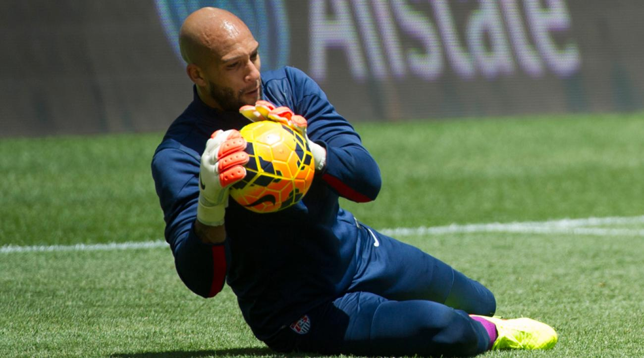 U.S. goalkeeper Tim Howard is set to reach the 100-cap milestone in Saturday's friendly against Nigeria.