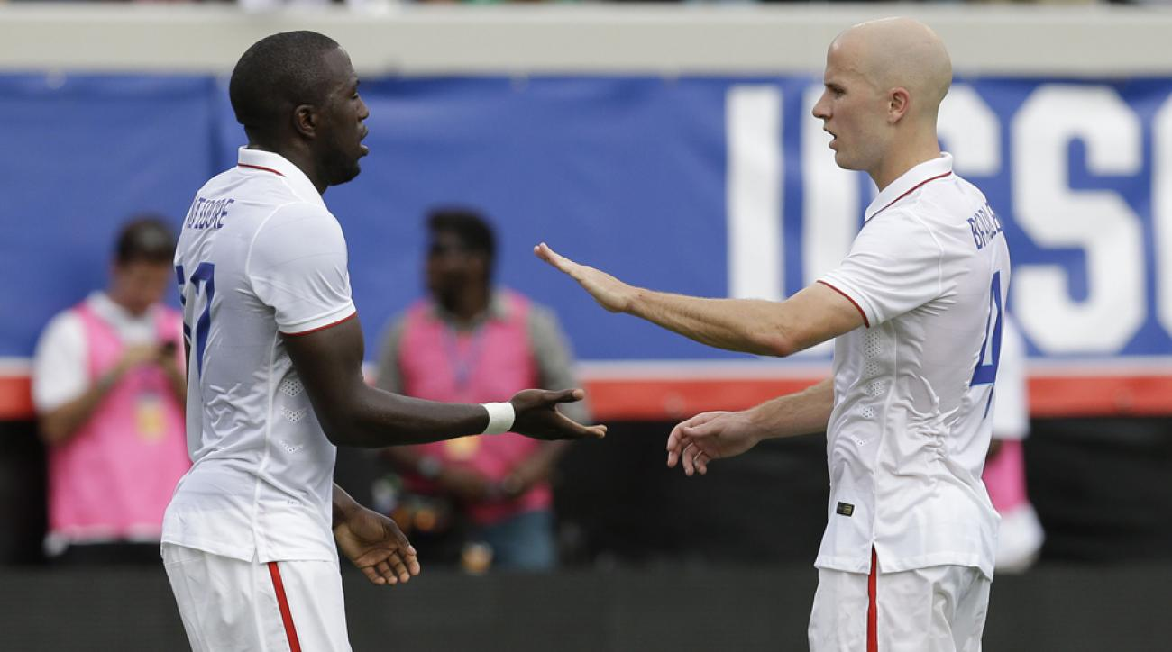 Jozy Altidore, left, and Michael Bradley face a formidable first World Cup foe in Ghana, with the game a close call for oddsmakers.
