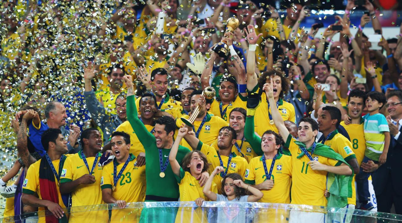 Brazil lifted the Confederations Cup trophy on home soil last summer and will be looking to replicate that with the World Cup trophy on July 13.