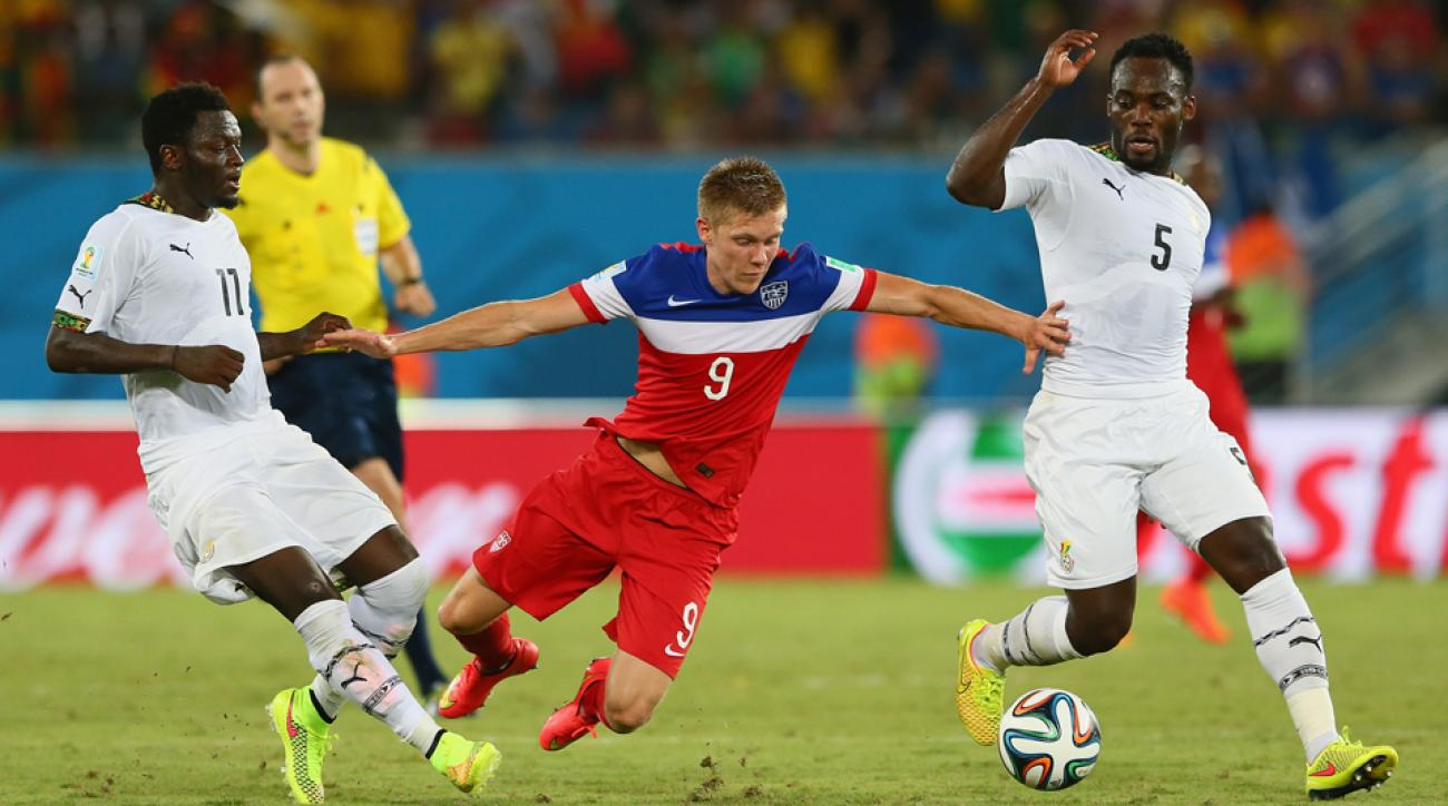 USA forward Aron Johannsson, center, will miss the next 6-8 weeks because of ankle surgery.
