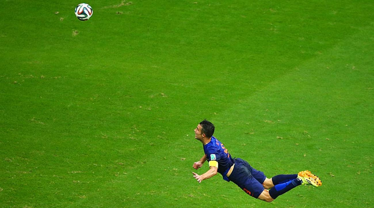 Robin Van Persie had a wonderful headed goal vs. Spain to lift the Netherlands to a massive victory over the defending World Champions.