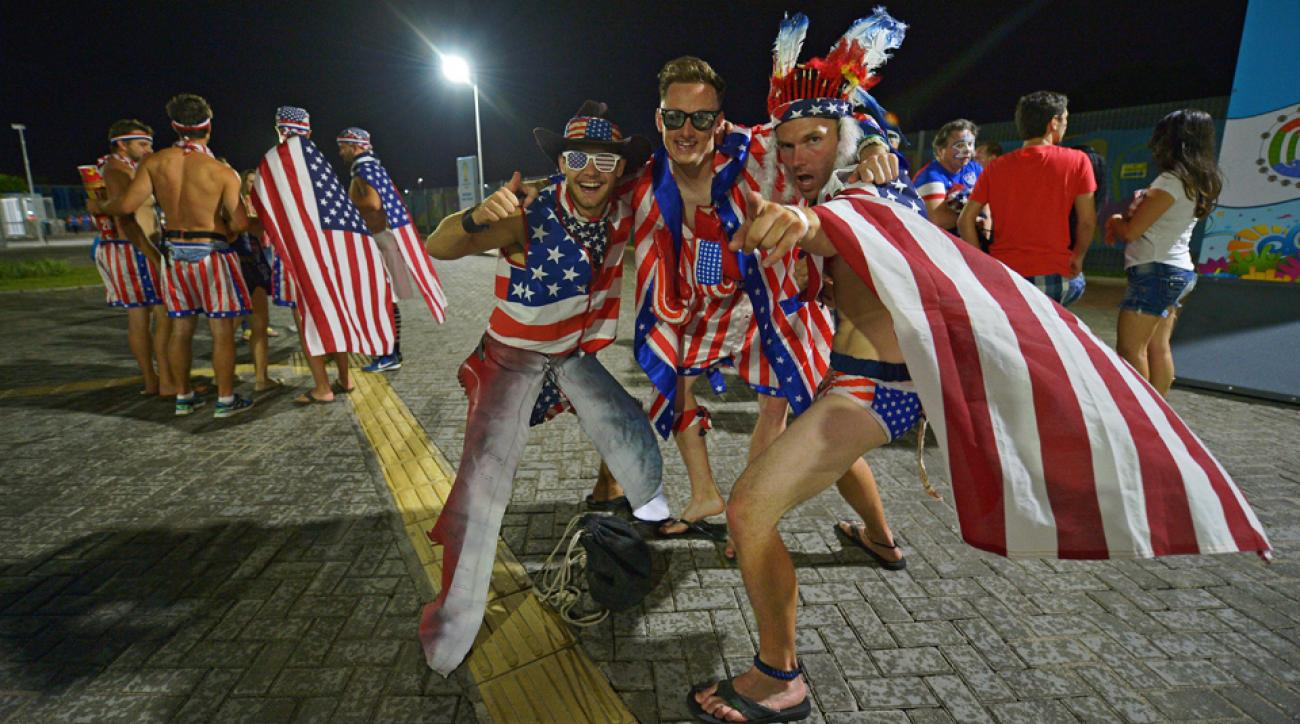 USA fans have flocked to Brazil to support Jurgen Klinsmann's side as it tries to navigate through the difficult Group G in the World Cup.