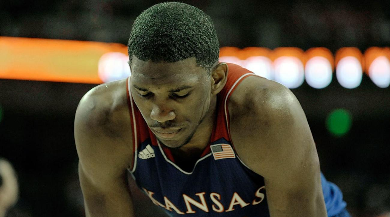 Joel Embiid's new foot injury could hurt his stock in next week's NBA draft.