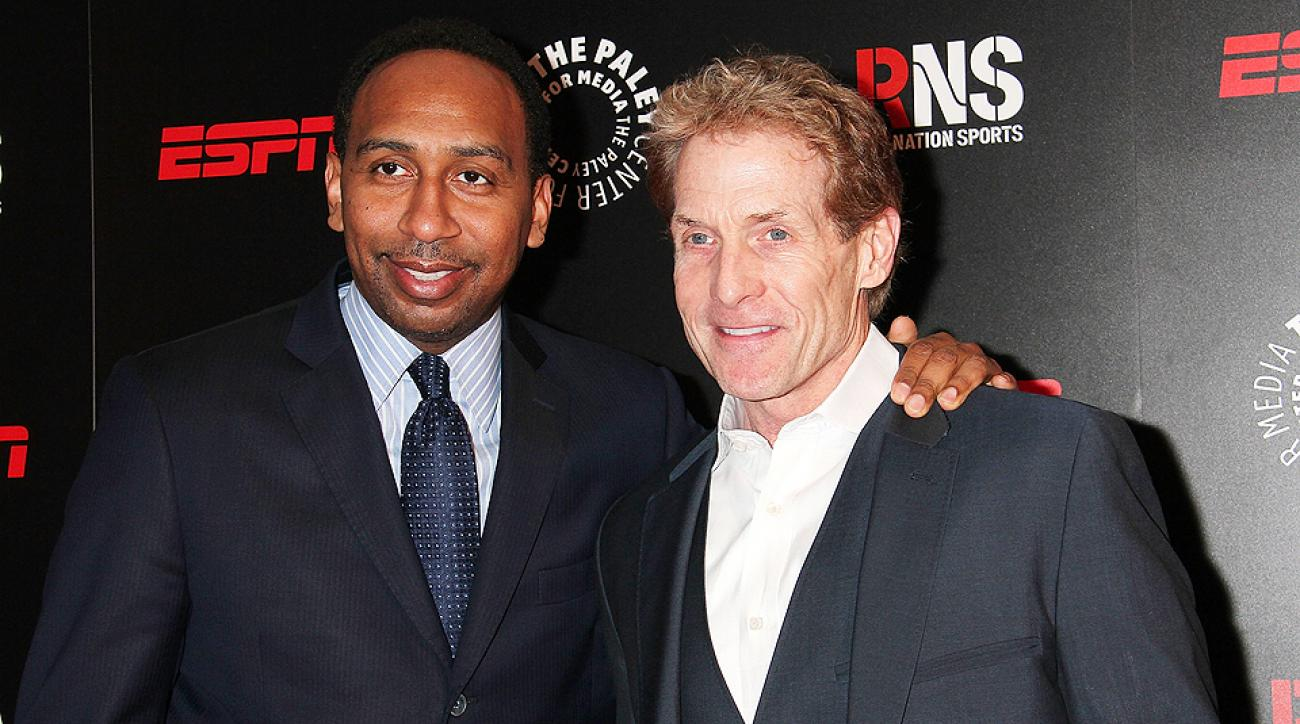 """Stephen A. Smith (left) and Skip Bayless represent the faces of ESPN's """"First Take,"""" a daily show centered around debating sports topics."""