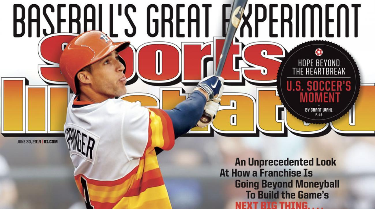 The Astros are in last place again, but slugger George Springer is leading a young group of players towards respectability.