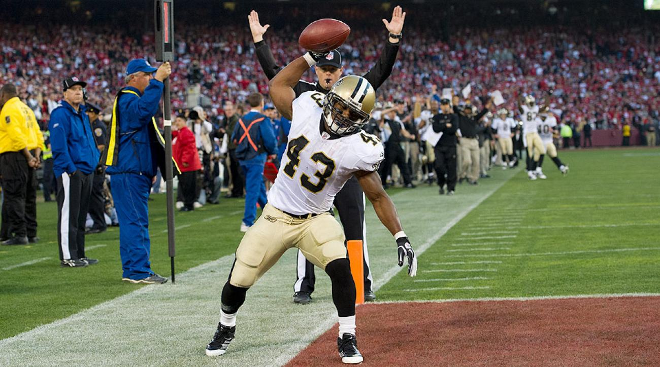 The Saints traded Darren Sproles to the Eagles for a fifth-round pick back in March.