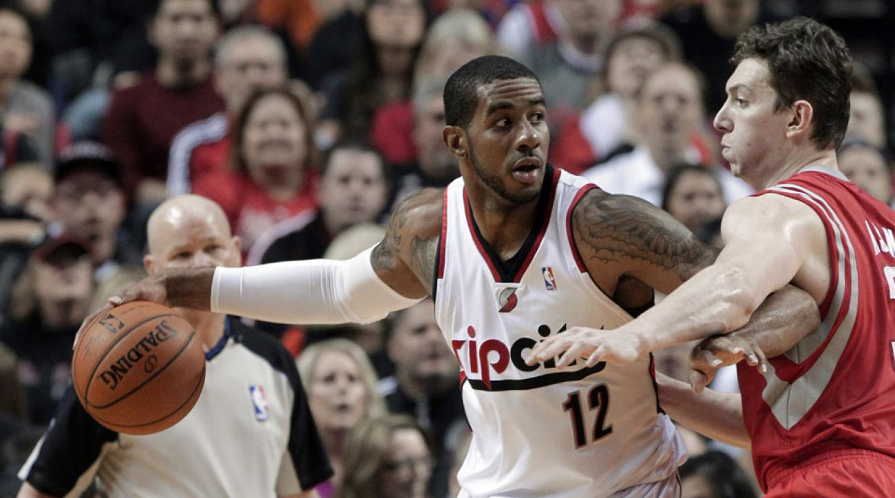 Trail Blazers forward LaMarcus Aldridge has averaged 21 points or more in four consecutive seasons.