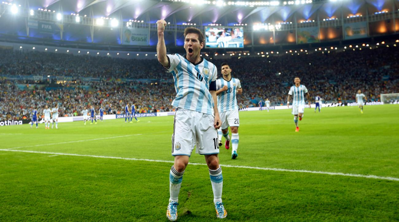 Lionel Messi relishes the spotlight at the Maracana -- a place he hopes to return for the July 13 World Cup final -- after one of his four group stage goals.
