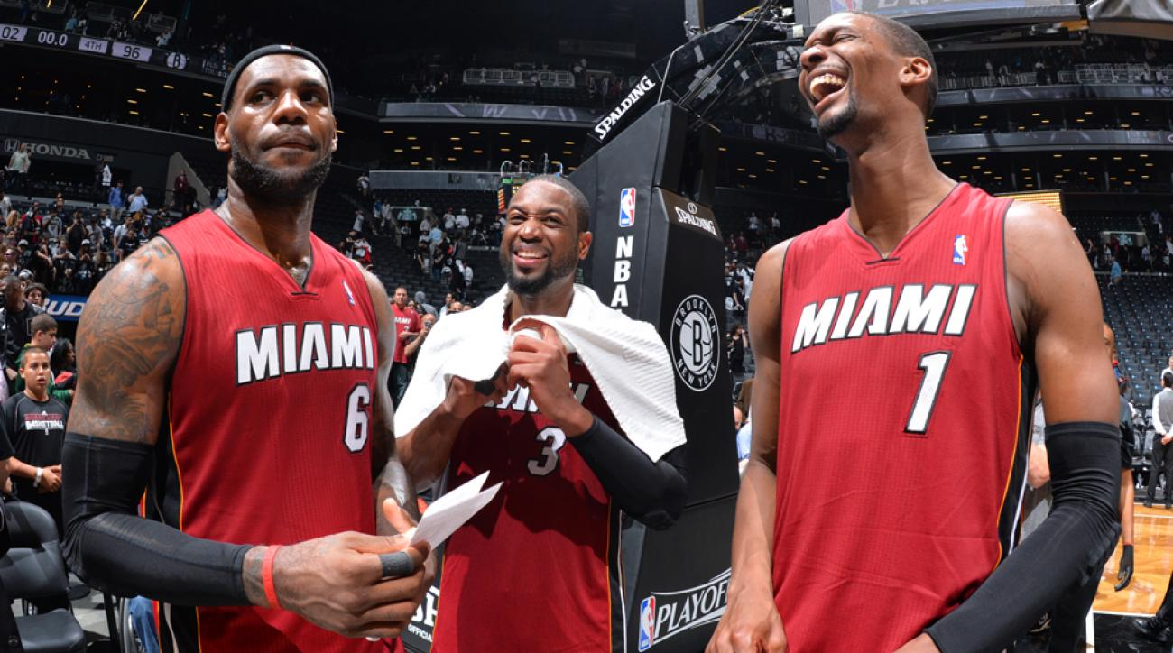 """The Heat's """"Big 3"""" has made four consecutive Finals appearances."""
