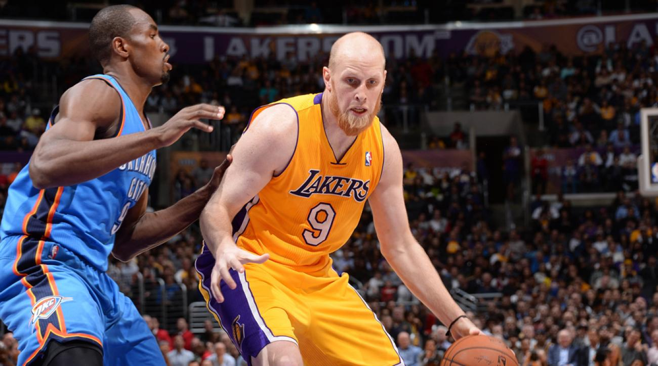 Chris Kaman is leaving the Lakers after a turbulent season that saw him butt heads with former coach Mike D'Antoni.