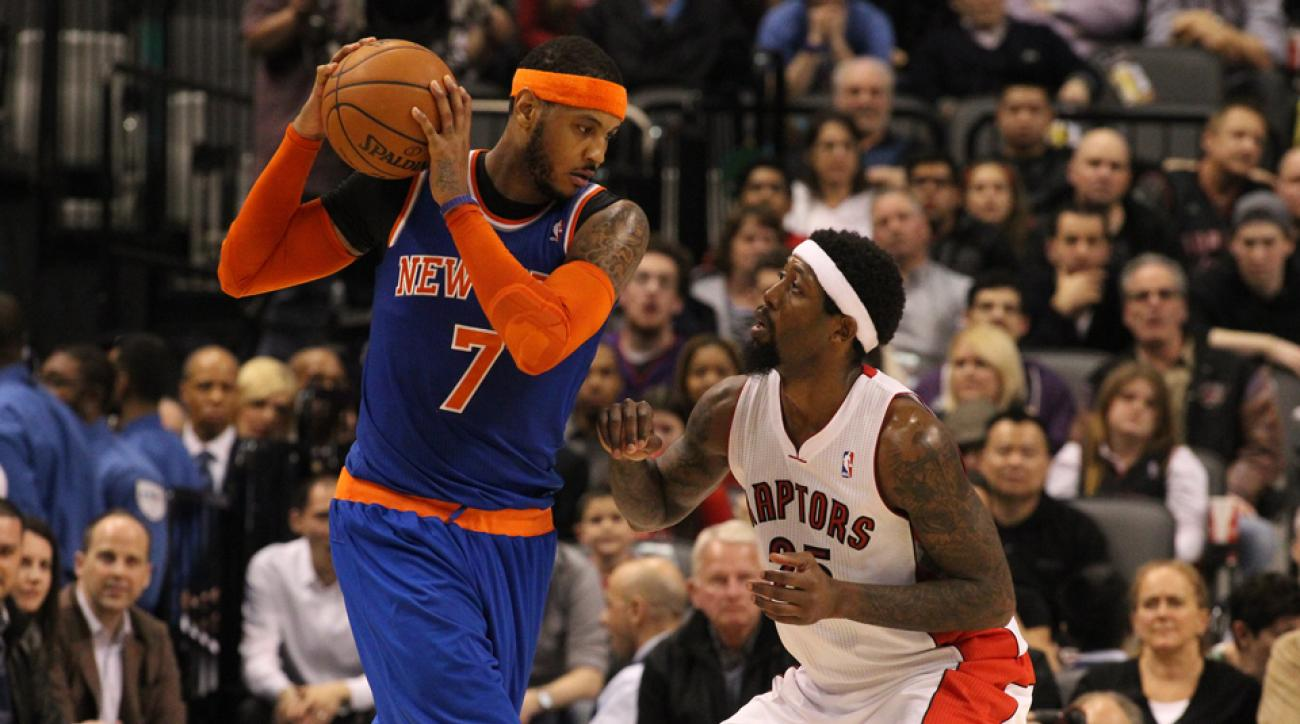 Carmelo Anthony (left) spent this week meeting with multiple teams as he weighs his next move.