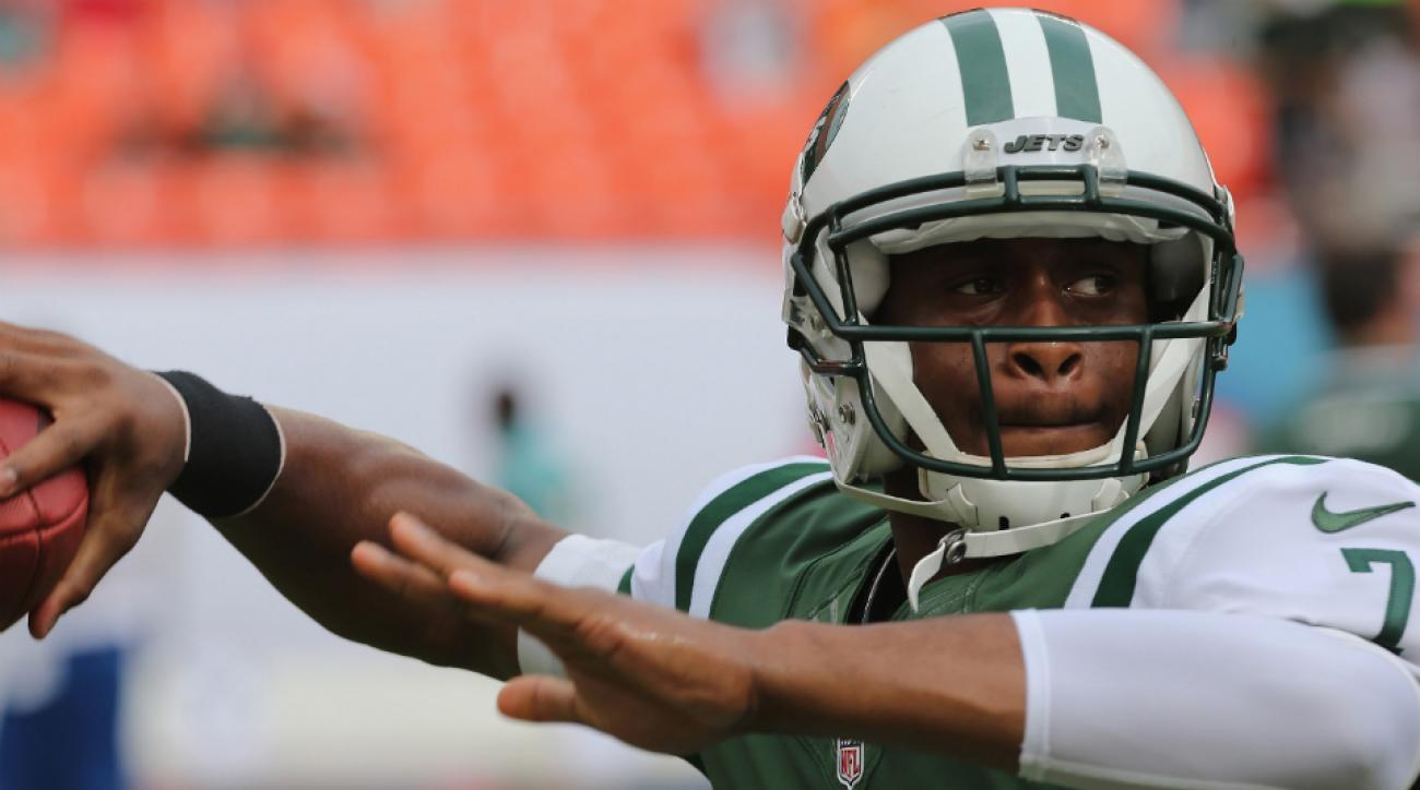 Geno Smith is battling with Michael Vick to win the Jets' starting quarterback job.