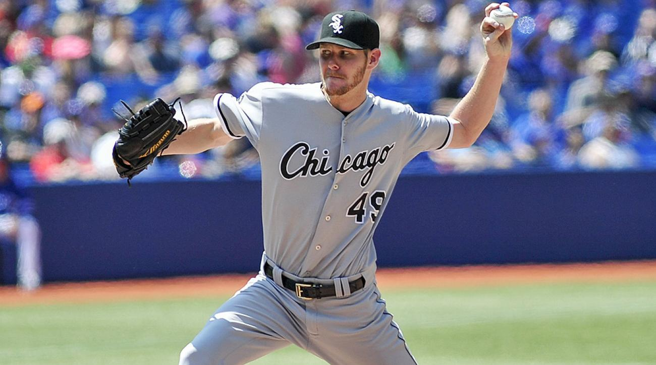 White Sox left-hander Chris Sale will compete with Dallas Keuchel, Corey Kluber, Garrett Richards and Rick Porcello for the final AL roster spot voted on by the fans.