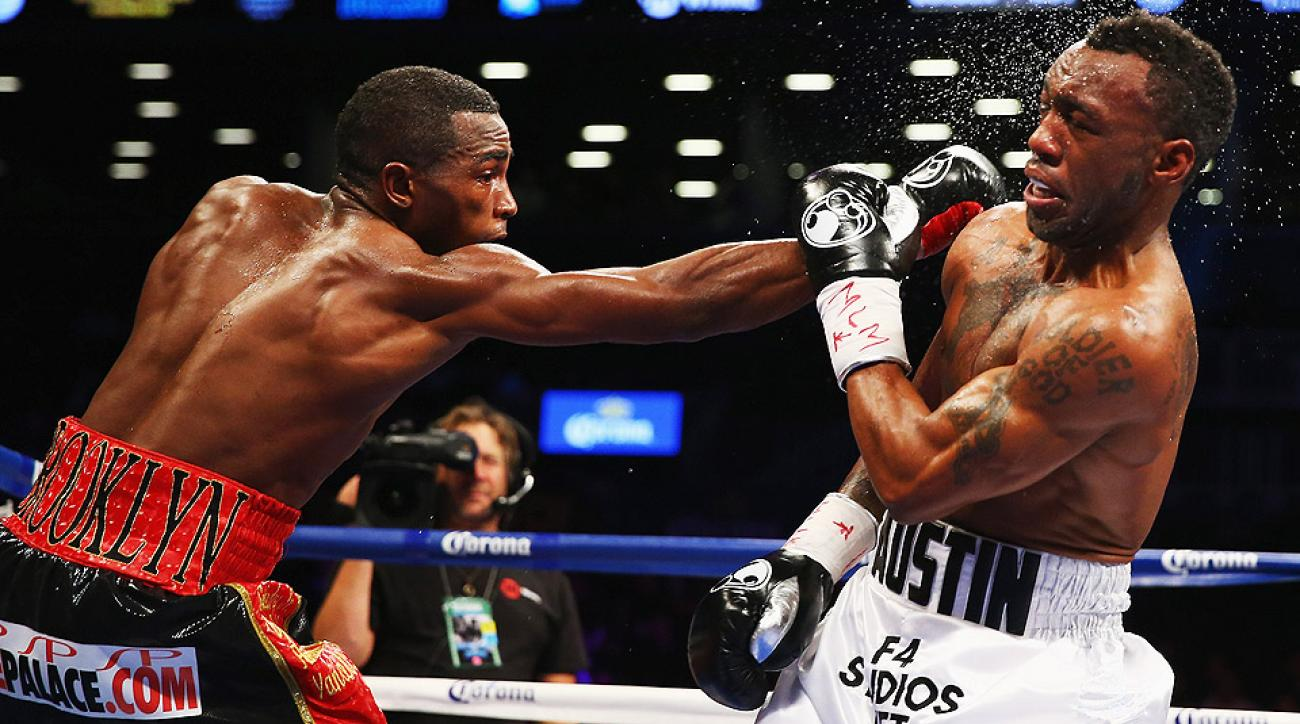 Erislandy Lara (left) beat Austin Trout (right) by decision last December to set up an anticipated bout against Mexican star Saul Alvarez on Saturday.