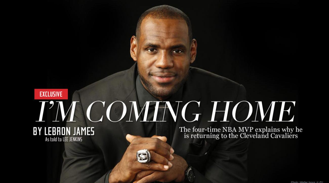 LeBron James announces his return to Cleveland Cavaliers