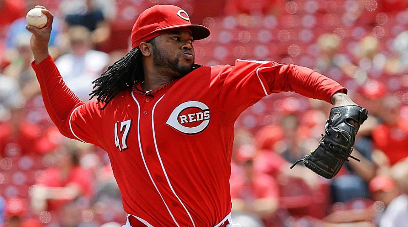The Red's Johnny Cueto has been outstanding throughout the first half of the season, posting a 9-6 record, a 2.03 ERA and 134 strikeouts.