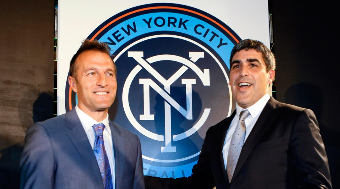 Jason Kreis, left, and Claudio Reyna are in the process of building NYCFC from the ground up ahead of the club's 2015 MLS expansion season.