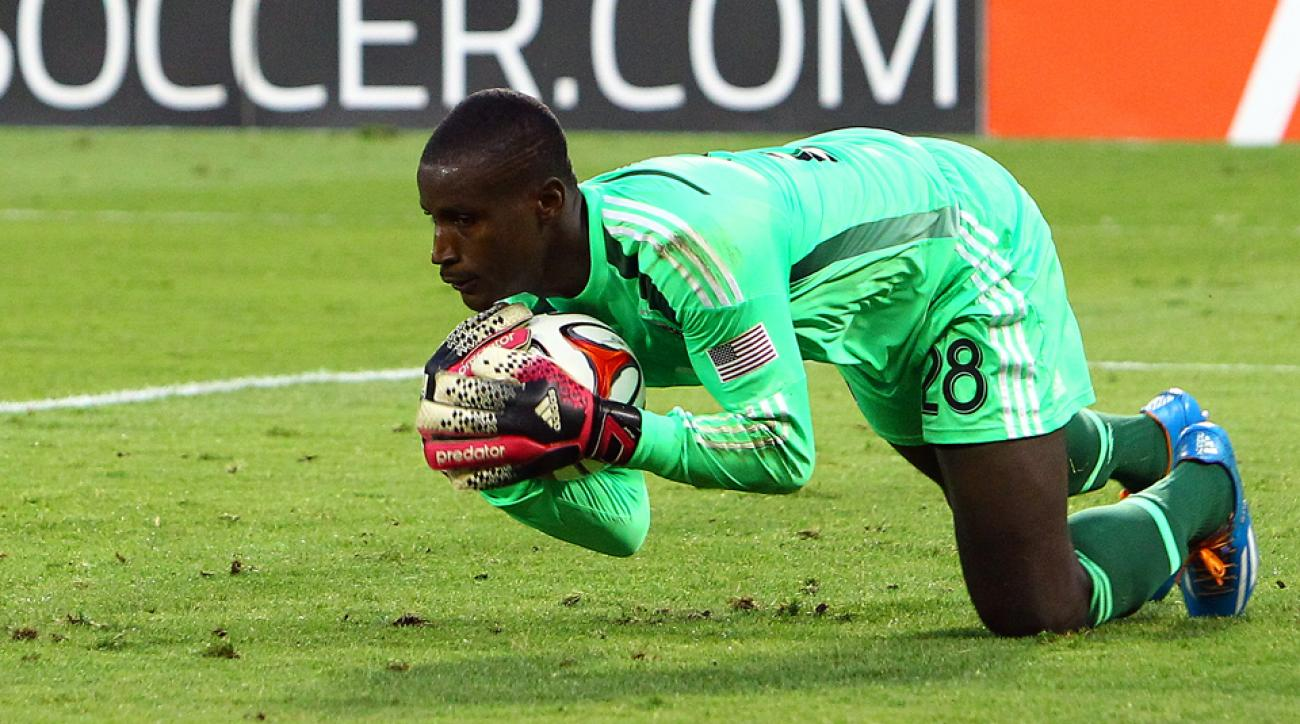 D.C. United's All-Star goalkeeper Bill Hamid makes a save during a 3-1 win over Chivas USA on Sunday.