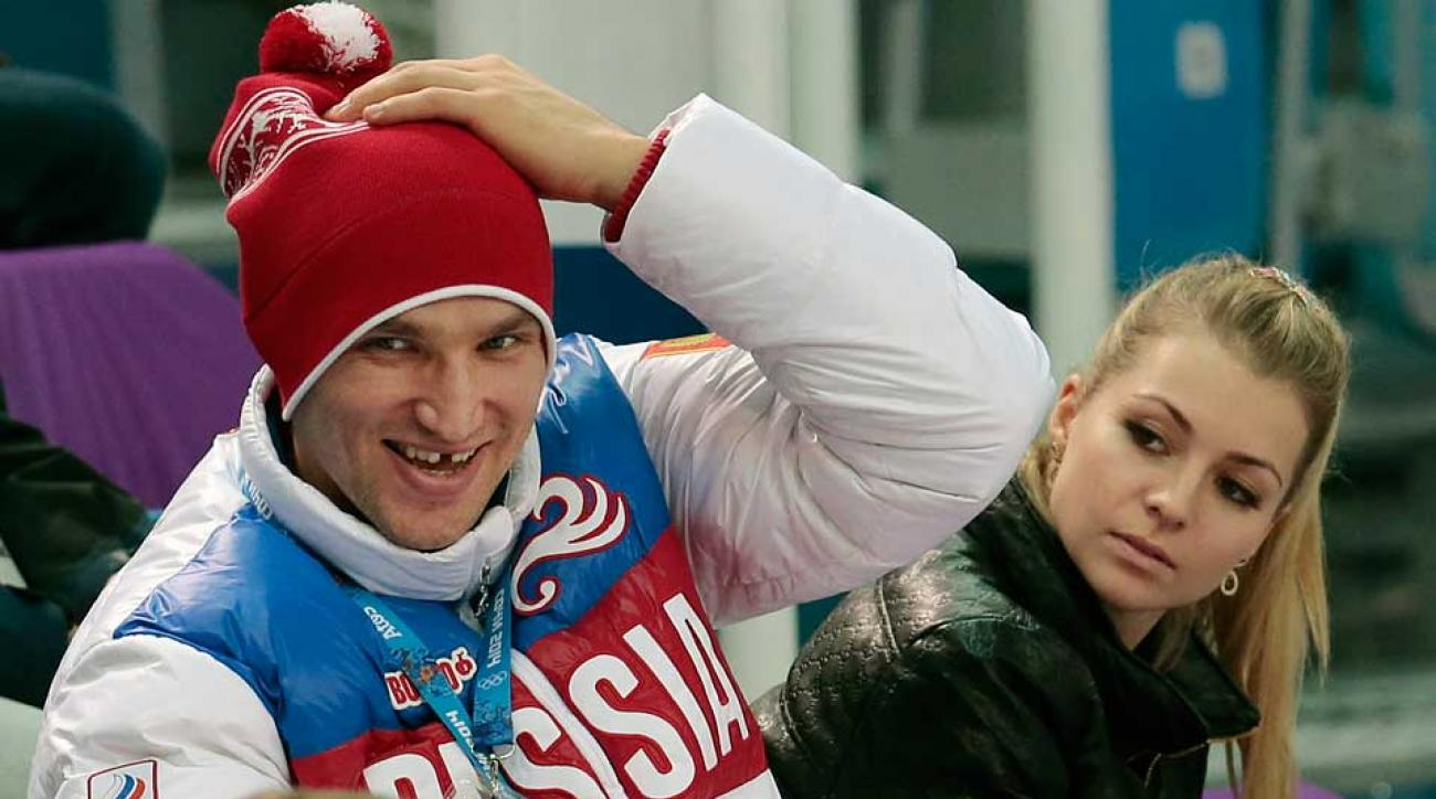 Capitals sniper Alex Ovechkin (left) with former girlfriend Maria Kirilenko in happier times at the Winter Olympics in Sochi in February.