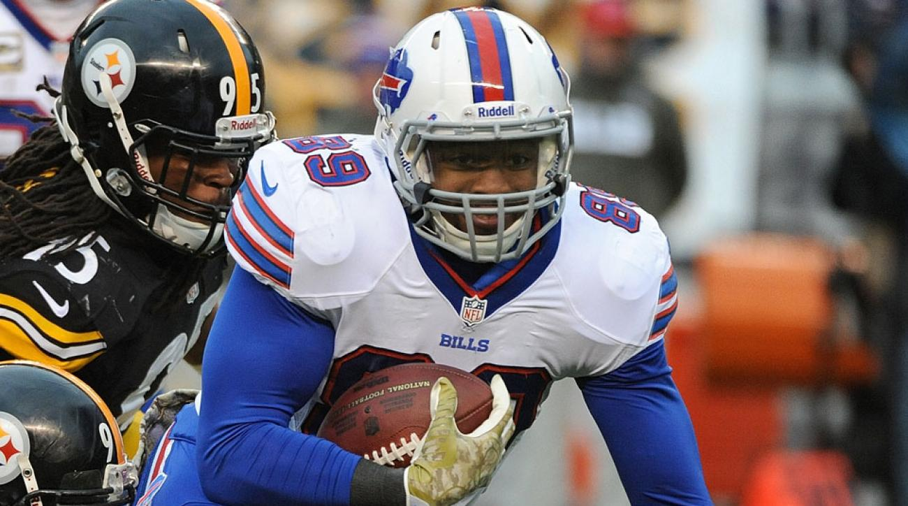 Chris Gragg was one of two Bills players sent to the hospital due to heat