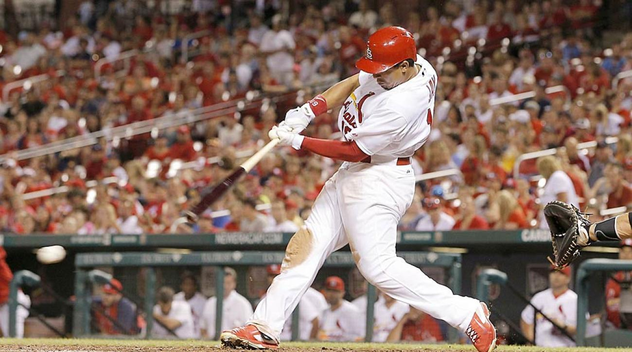It's bad enough as a hitter to strike out. What's worse is to strike out on a 4-2 count, which is exactly what happened to the Cardinals' Jon Jay Wednesday night.