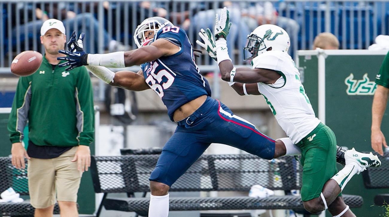 A possible third-round pick, UCONN wide receiver Geremy Davis (left) has proved to be a threat at all levels of the field.