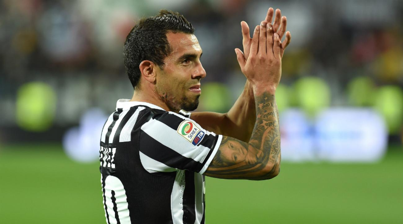 Juventus forward Carlos Tevez