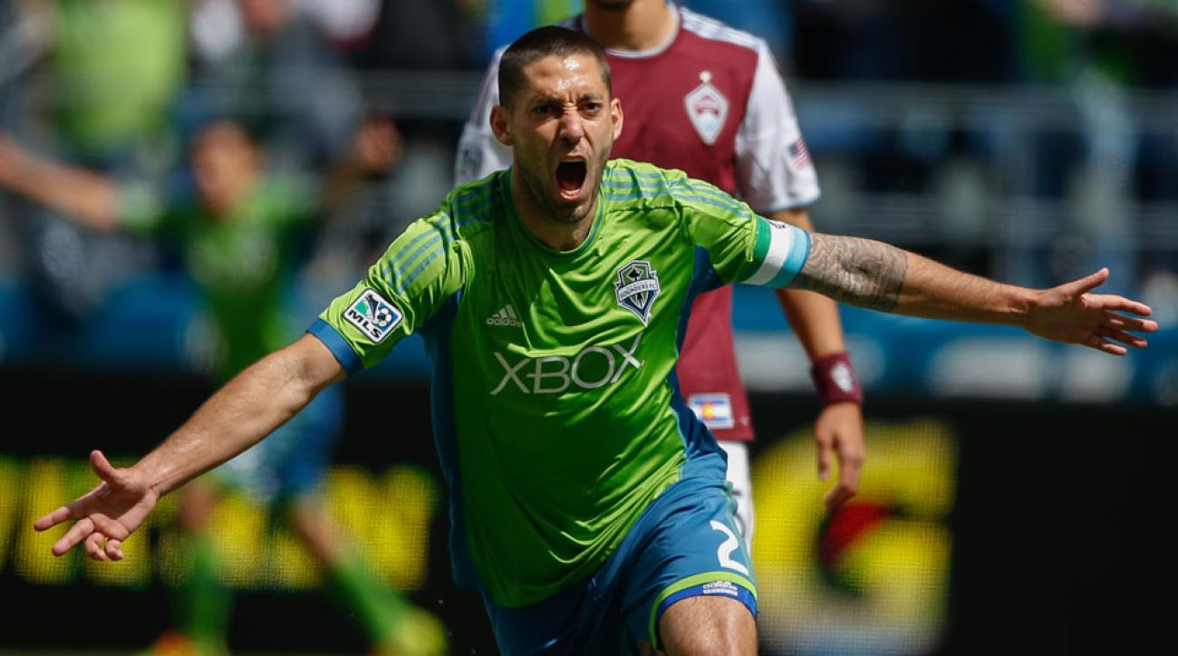 Clint Dempsey leads the Seattle Sounders with nine goals at the midway point