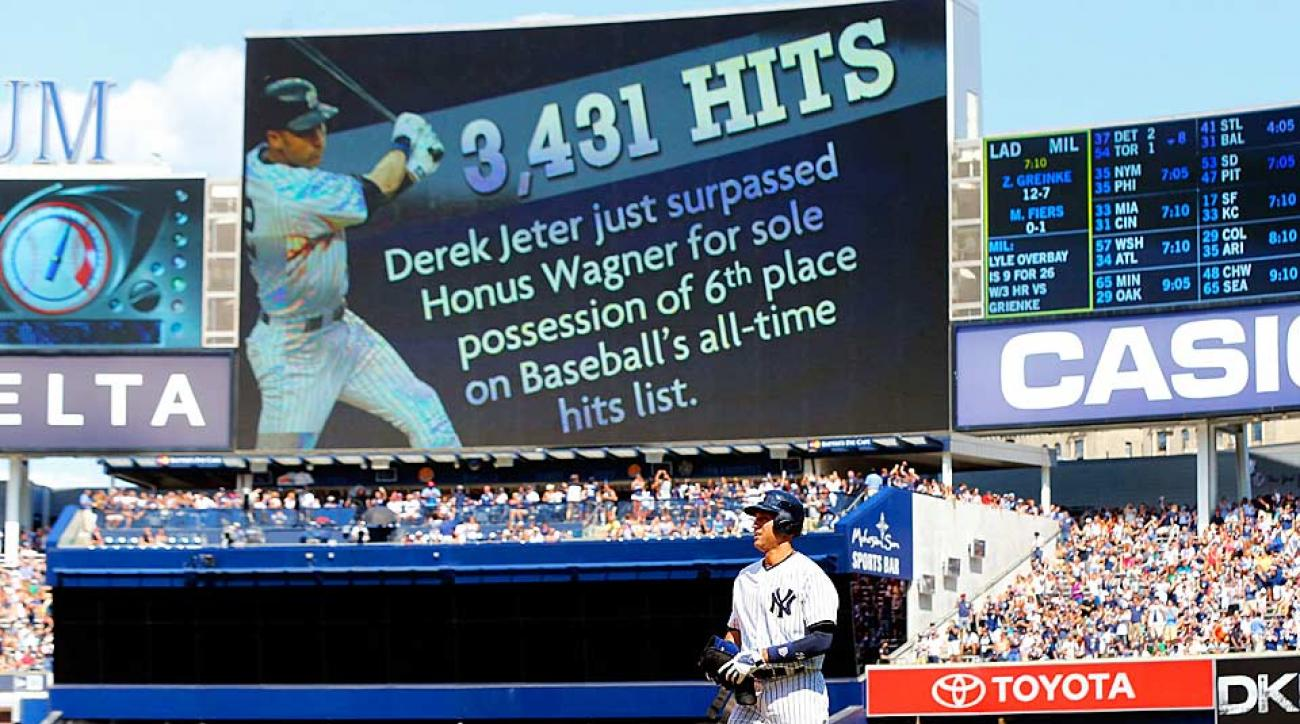 With his infield single on Saturday, Derek Jeter passed Honus Wagner to move into sole possession of sixth place on MLB's all-time hits list.