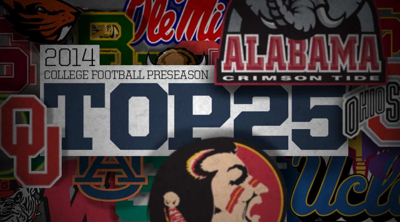 Unveils its 2014 preseason college football top 25 rankings si com