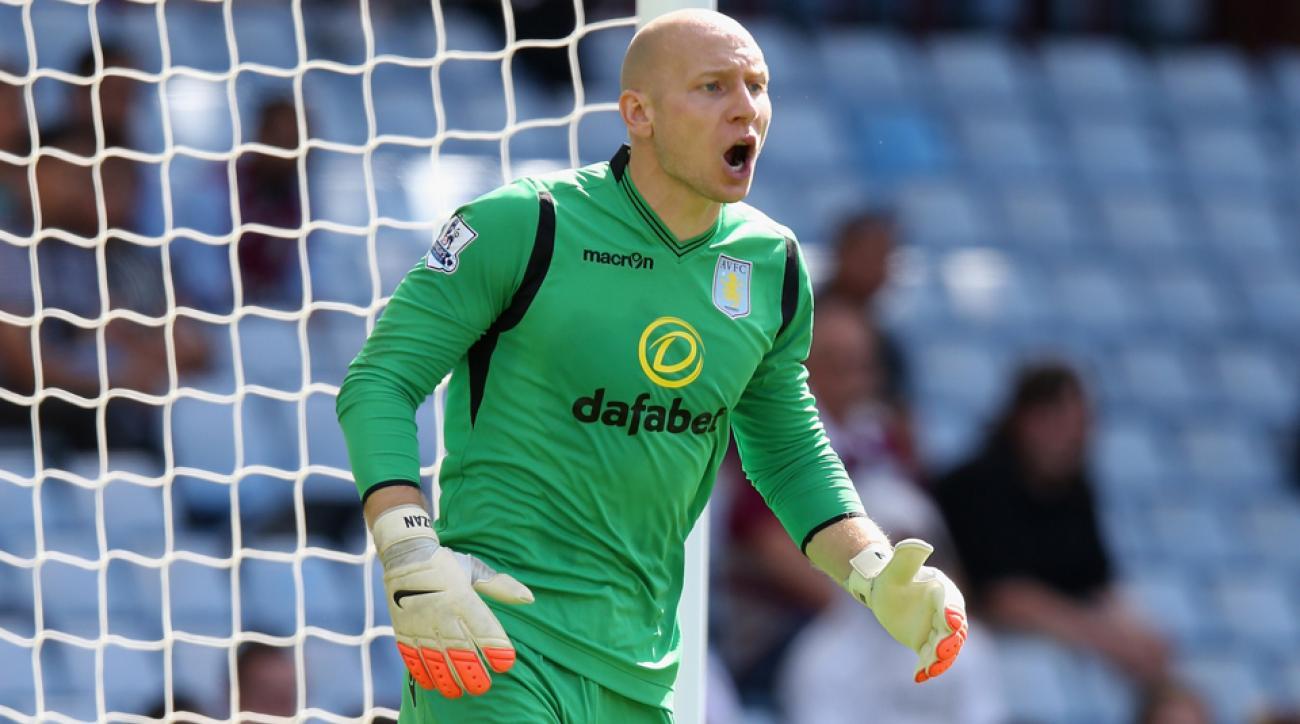 American goalkeeper Brad Guzan remains integral to Aston Villa's fortunes.