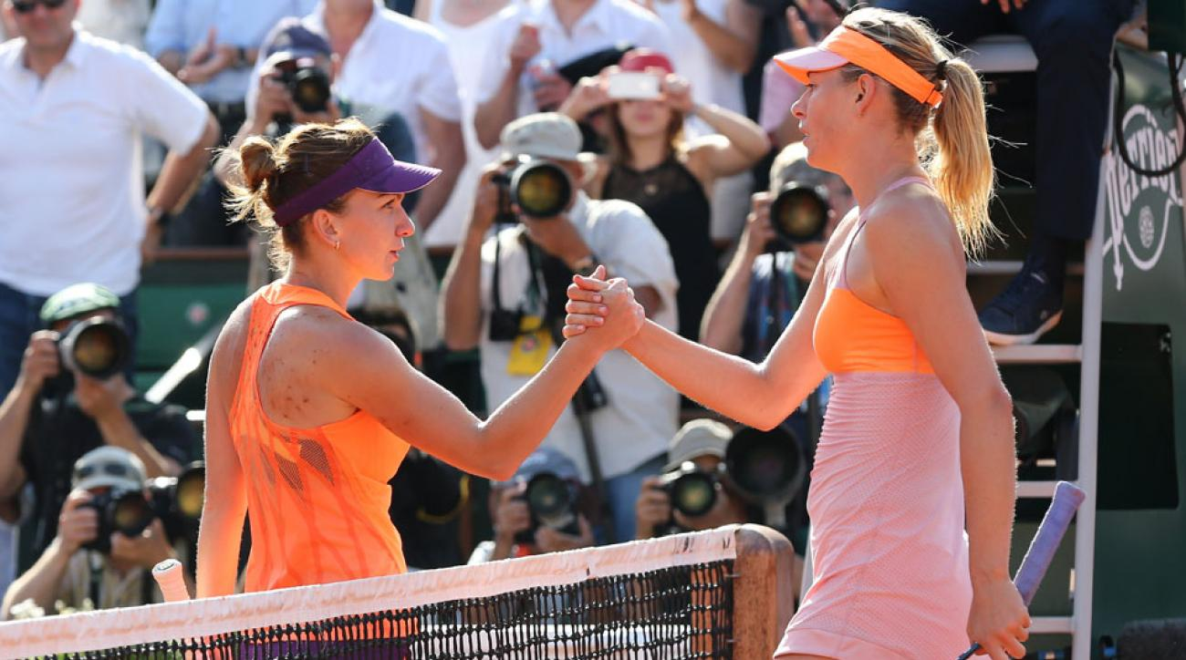 Maria Sharapova and Simona Halep last met in the French Open final this year, a tournament won by Sharapova on the clay court.