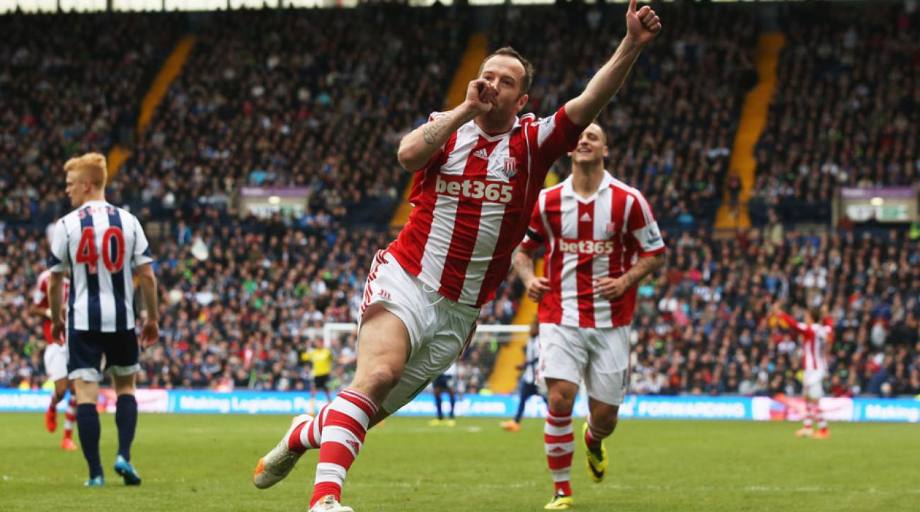 Stoke City plays Aston Villa to start the 2014/15 Premier League season.