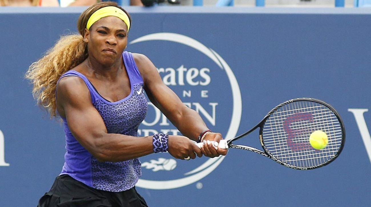 Serena Williams advanced to the final of Western & Southern Open in Mason, Ohio on Saturday, defeating Caroline Wozniacki 2-6, 6-4, 6-2.